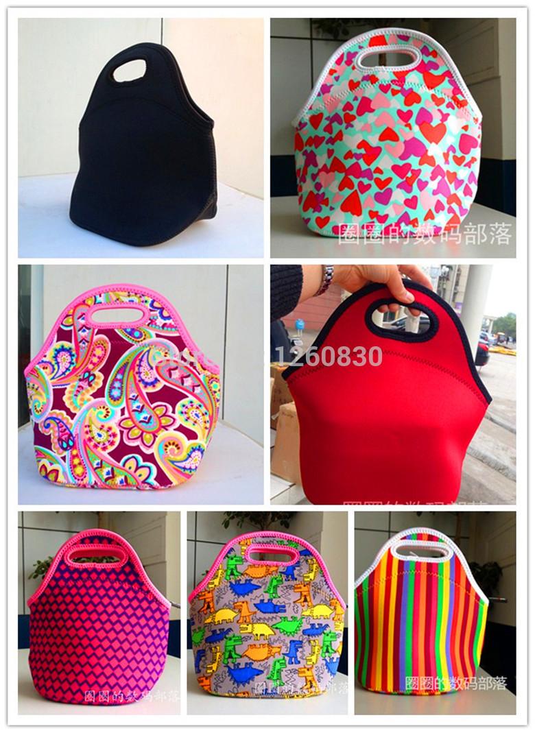100% borse in neoprene pranzo di raffreddamento isolamento sacchetti di pranzo per le donne borsa termica lunch box per bambini borsa tote 19 colori
