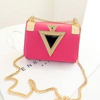 2014 fashion diamond chain of packet one shoulder cross-body women's handbag d266
