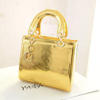 2014 fashion bright color bag portable women's one shoulder handbag n200