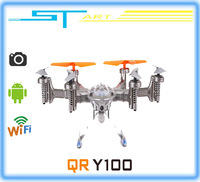 2014 New Walkera QR Y100 FPV Wifi Aircraft UFO RC Quadcopter Drone helicopter with camera brushless motor VS dji phantom 2