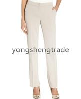 Straight-Leg Dress Pants Custom Made Pants Khaki Straight Leg Pants Unlined Button Closure YS16