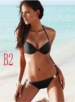 exy Unique 2 Pcs Women Push Up Padded Beach Bikini Swimsuit Swimwear Push Up BJN2 5sets\lot