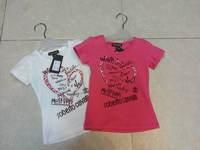 2014 new fashion o-neck short sleeve shirt,fashion children's  popular children red and  white  leisure  boy's t-shirt