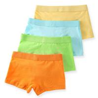 Wholesale Cotton Solid Color  Boys Panties  Kids Underwear  Briefs Underpants Cartoon Shorts Pants Boxer