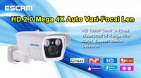 Q1039 ONVIF 1080P Mini 2.0 Megapixel HD Network 4X Zoom Vari-Focal Fixed lens 3-12mm Day/Night IR-Bullet Camera IP66 and POE