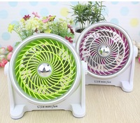 New 2014 USB mini turbine silence fan summer air cooling  table portable fans 5 colors wholesale free shipping