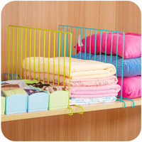 FREE SHIPPING!!! Bright iron wardrobe partition sorting rack creative cabinet grid storage rack K2459