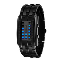 Skmei 0953 Women Dress Watches 3ATM Water Resistant with Zinc Alloy Strap Women's LED Watch (black)