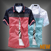 2014 New Male POLO Short-sleeve Shirt Slim Men's Casual Clothes Free Shipping XMTS8801