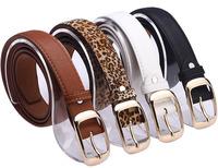 New 2014 hot Leopard leather belt for women fashion belt strap women belt buckle free shipping B173