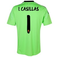 Top Thai quality Real Madrid soccer jersey 2013/2014 madrid football shirt Iker Casillas 13/14 goalkeeper short training uniform