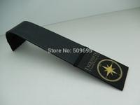 Black Leather wrapped metal Watch Display Ramp with silk screen logo RA-002
