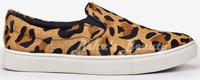 fur leopard animal print flat female shoes