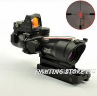 Free shippingACOG TA31 fiber with 4 x32  Red Optical scope hunting scope Real Fiber Scope +RMR Mini Red Dot Rifle Scope