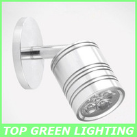 3W LED Wall Mounted Light AC 85-265V Mirror Front Lamp Modern LED Wall Mount Lamp 3W LED Wall Mirror Red/Blue/Green/Yellow/White