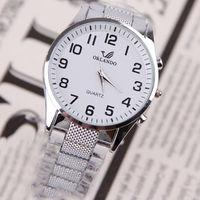 Simple Designed Sport Watch Luxury Clock Men Steel Quartz Wrist Watch 3 Colors dropshipping free shipping