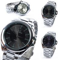 Simple Elegant Steel Mens Quartz Analog Wrist Watch Stainless Band Watch Clock dropshipping free shipping