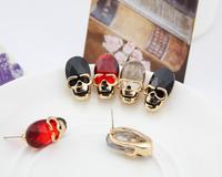 Vintage popular fashion accessories punk fashion personality skull stud earring earrings female