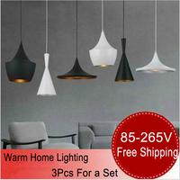 3PCS/LOT  led pendant lamp light Circular plate led lighting chandelier 220V aluminum Restaurant lamp modern chandelier