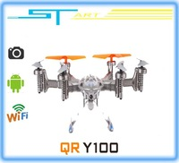 2014 New Walkera QR Y100 FPV Wifi Aircraft UFO RC Quadcopter Drone helicopter with camera brushless motor VS dji phantom boy toy