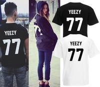 French logo YEEZY 77 100% Cotton men t shirt HBA PYREX 23 fashion man's tops& tees hip-hop short sleeve lovers clothes 1