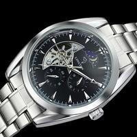 brand tourbillon mechanical watch, multifunction Casual watch, fashion dress watch,full steel men sports watches.