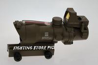 Trijicon ACOG TA31 Type 4x32 Crosshair Sight Scope w/ Fiber w/ Brightness Sensitive Reflex Docter Red Dot Sight, GL 4X32C2