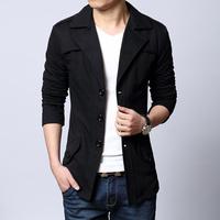 British Style 33 Fashion Spring Autumn Regular Fit Non Iron Men Coat Casual Jackets Large Size L XL XXL 3XL