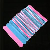 100pcs 100/240 grit Professional Nail Files nail Buffer Buffing Slim Crescent Grit nail tools nail file
