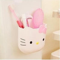 Kawaii Multi-Function Cartoon Animal Suction Disc Organizer Box Toothbrush Holder Pencil Holder Accessories for Bathroom Retail