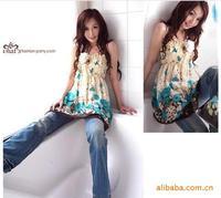 2014 new Summer dress women clothing chiffon floral casual dress fashion print party dress