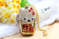 Mini fashion mobile phone Hello Kitty crystal pendant jewelry women and children Single SIM card mobile phone Free shipping