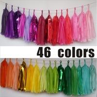 240pcs/lot  Wholesale  46 colors Tissue Tassels Paper Garland  Mint, Coral pink blue Gold  banners DIY kits