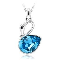 Crystal accessories popular accessories crystal necklace pendant necklace b82 female