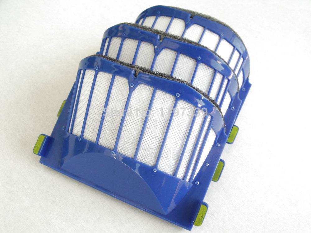 Replacement 3pcs/set filter for iRobot Roomba 500 600 700 Series 550 560 630 650 760 780 790(China (Mainland))