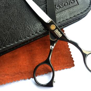 Черный titanium 5.5 дюйм hairdresser hair scissors set hair salon product gift ...