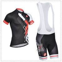 Cool !! New 2014 Castelli Cycling Jersey+Bib Shorts Set Bike Clothes/Cycling Wear/maillot cycling(Accept Custom) Size:S-5XL D34