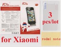 3 pcs/lot Anti Scratch film Anti Glare Wholesale HD Transparent Clear for xiaomi redmi note Screen Protector redmi note