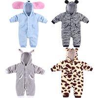 Spring and autumn male baby girls clothing baby animal baby horse rabbit elephant bodysuit romper wadded jacket
