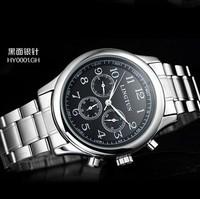 brand mechanical multifunction Casual watch, fashion dress full steel men sports watches,Clock