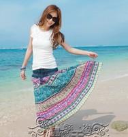 New arrival 2014 women summer bohemia expansion bottom bust skirt women's spring autumn suspender long beach skirts