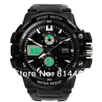 Free shipping New Arrival Skmei 0990 Men's sports wateproof Wristwatches Fashion electronic digital sports quartz analog watch