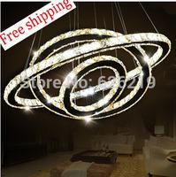 3 circle 60*40*20 cm Modern brief Led crystal pendant lights Living room lamps lamp Crystal circle light Luminaire Free shipping