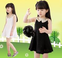 Summer  girls princess dress Summer with sequins lace temperament princess dress skirt girl scout