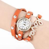 Drop Shipping, New Arrial PU Leather Strap Women Rhinestone Watches Cross Love Bowknot Pattern Women Dress Watch