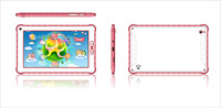 Q2 7 Inch Android4.2 Dual Core RK3026 512MB 4GB Capacitive Screen 2400mAh 1024*600 Wifi Children Tablet PC Red Green Blue Yellow