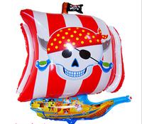 10pcs/lot 70*55cm New arrive wholesales Pirate ship balloon Birthday Party cartoon balloon Bar decorative balloons