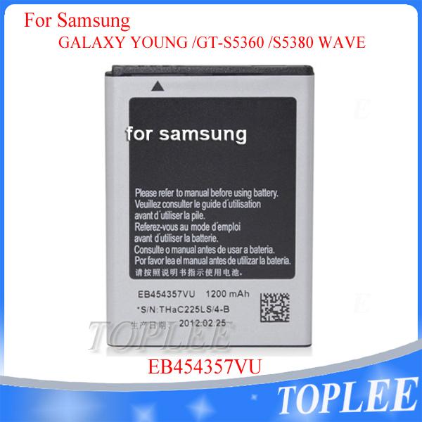 Versandkostenfrei 1200 mah eb454357vu akku für samsung galaxy junge gt-s5360 s5380 i509 welle handy-akku von dhl