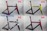 Many colors Full Carbon Fiber Bicycle BMC Frame , BMC impec carbon road bicycle frame  bmc racing and fork BB68 OEM bike frame