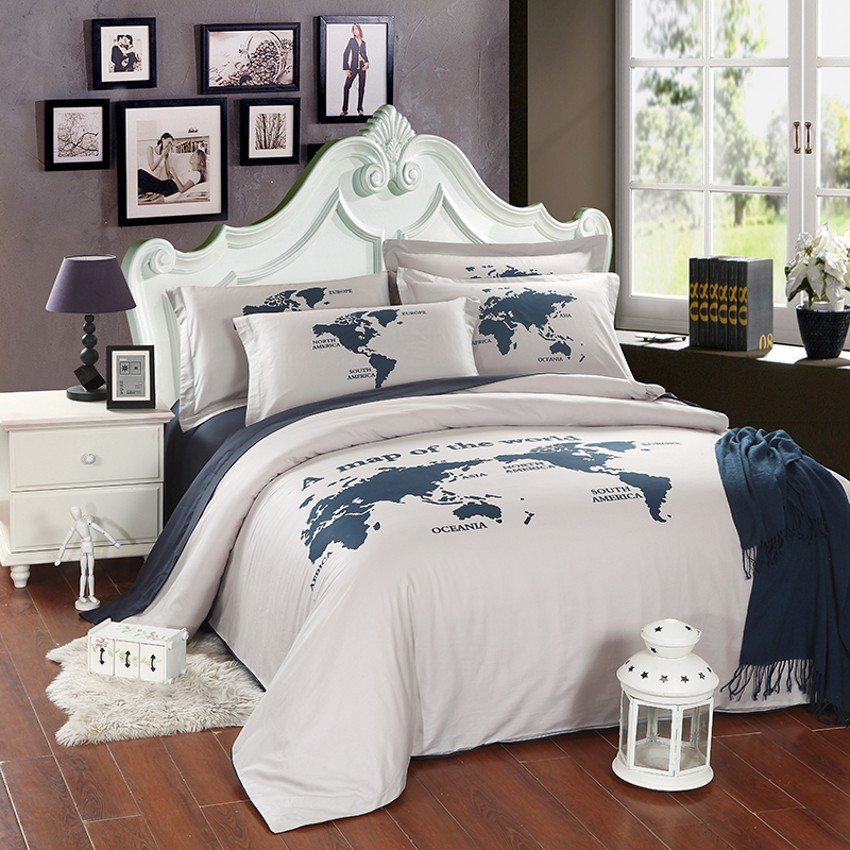 World Map Bedding Promotion Online Shopping For